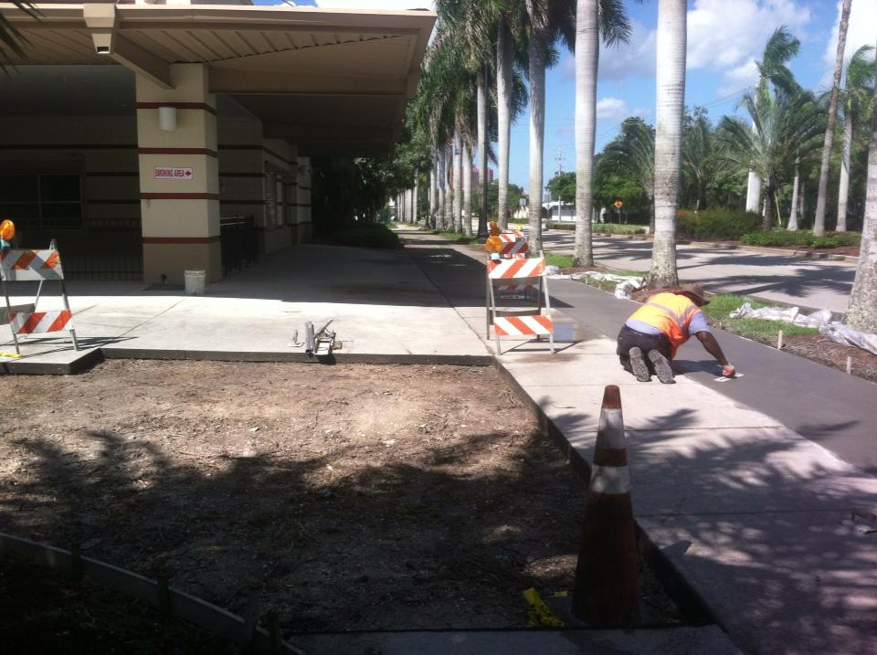 Fort Myers Skatium sidewalk repair